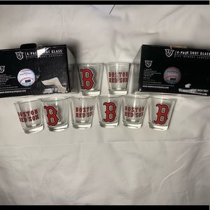 MLB Boston redsox shot glasses x8